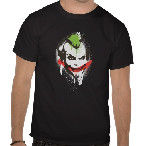 The Joker The Dark Knight graffiti style batman custom t-shirt design