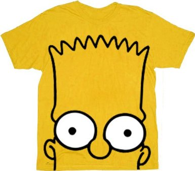 The Simpsons Bart Big Face Gold T-shirt Tee