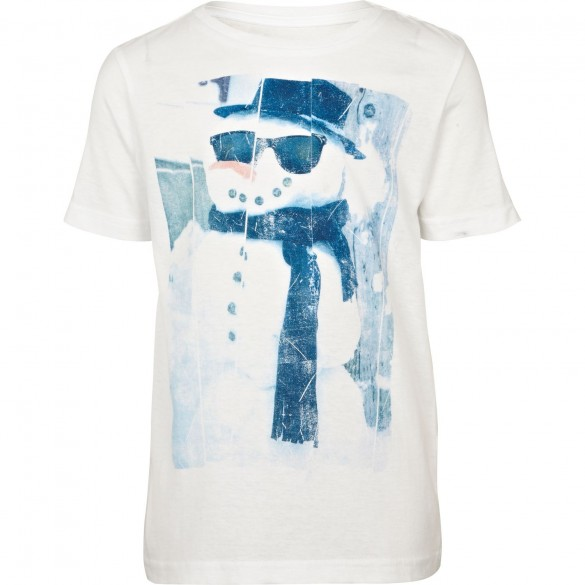 WHITE COOL SNOWMAN Custom T-SHIRT Design