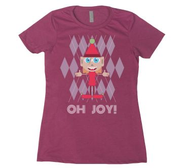 WOMENS ARGYLE OH JOY ELF TSHIRT design