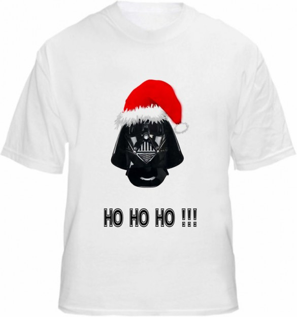 X-mas Dark Vader Custom T-shirt Design