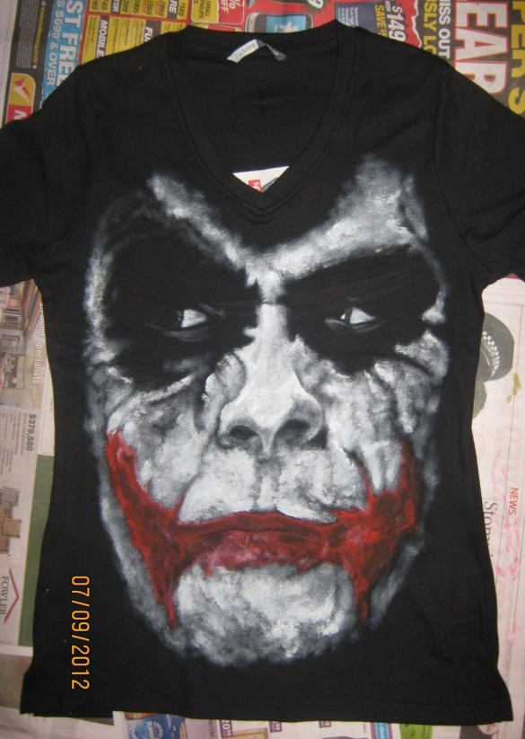 another joker t-shirt by synbag the joker batman the dark knight custom t-shirt design