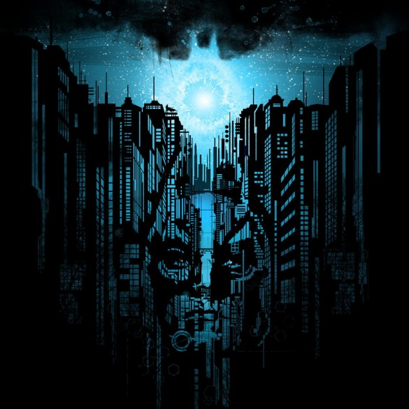 arise batman signal sky blue custom t-shirt design