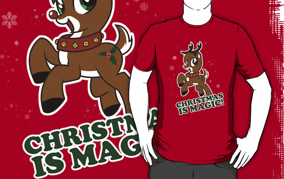 Christmas is magic custom tee design