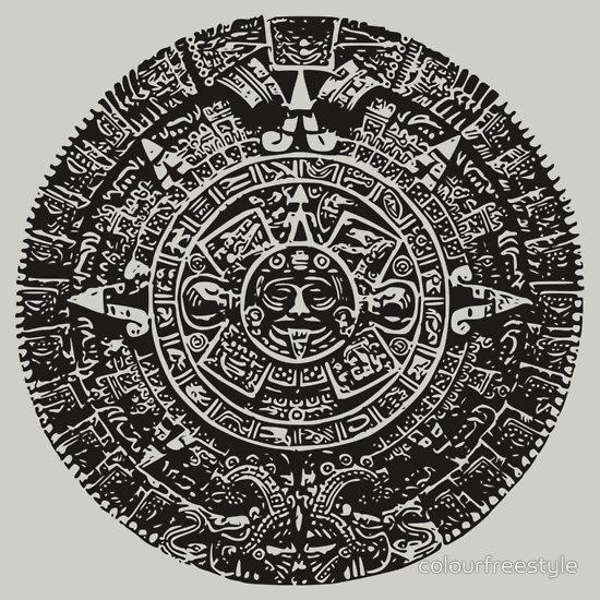 Mexican Mayan Calender Custom Tee Design
