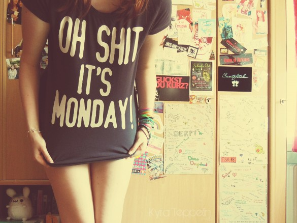 i hate mondays by kyrateppelin custom t-shirt deisgn