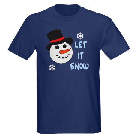 let it snow dark tshirt custom design