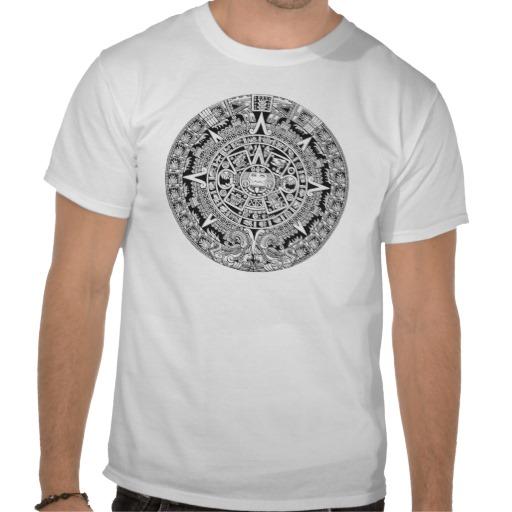 mayan calendar 12 21 2012 aztec custom t-shirt design