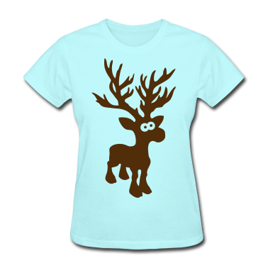 moose caribou reindeer deer christmas Custom T-shirt Design