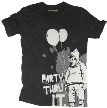 party thru it Custom T-shirt Design
