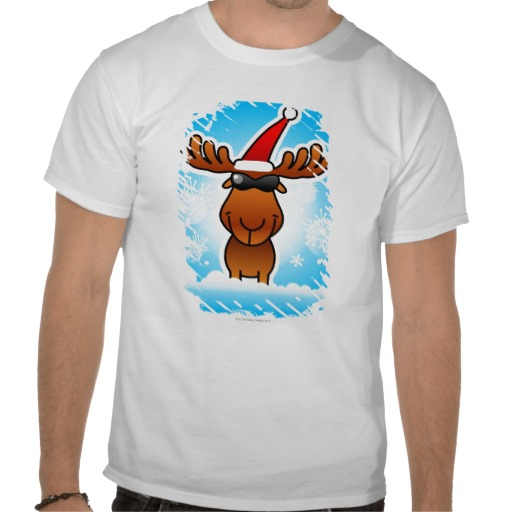 reindeer playing santa custom t-shirt design