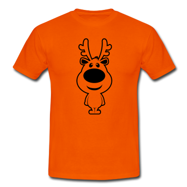 rudolf christmas reindeer Custom T-Shirt Design