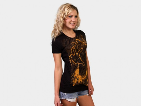 Cthulhu Rises Custom T-shirt Design Girl