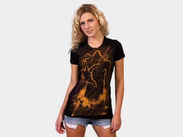 Cthulhu Rises Custom T-shirt Design Girl Front