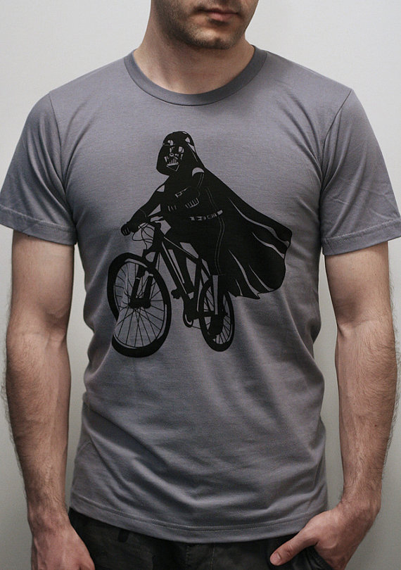 Darth Vader is Riding It Custom T-shirt Design