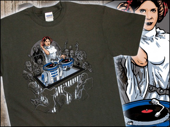 Dj Leia Custom T-shirt Design Tee