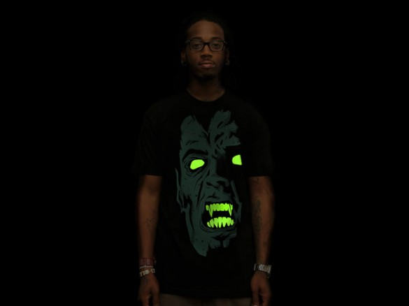 Fear Custom T-shirt Design Front Boy Black