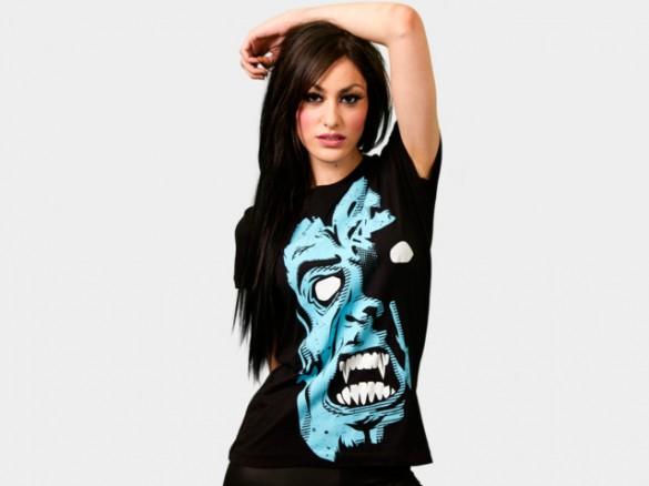 Fear Custom T-shirt Design Girl Front