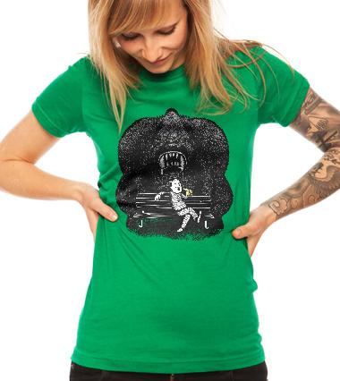 I smell banana... - t-shirt design girl