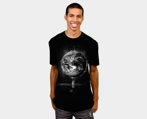 Man on the Moon Custom T-shirt Design