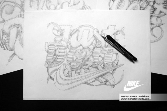 Nike Just Do It (Comissioned Artwork) t-shirt design