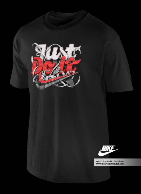 Nike Just Do It (Comissioned Artwork) t-shirt design4
