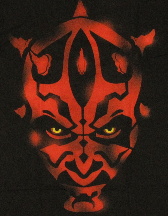 Star Wars Maul Stencil Custom T-shirt