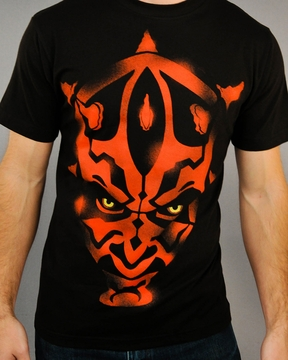 Star Wars Maul Stencil Custom Tee Design