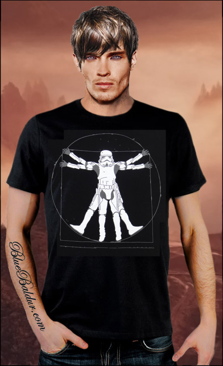 The Vitruvian Stormtrooper Custom T-shirt Design