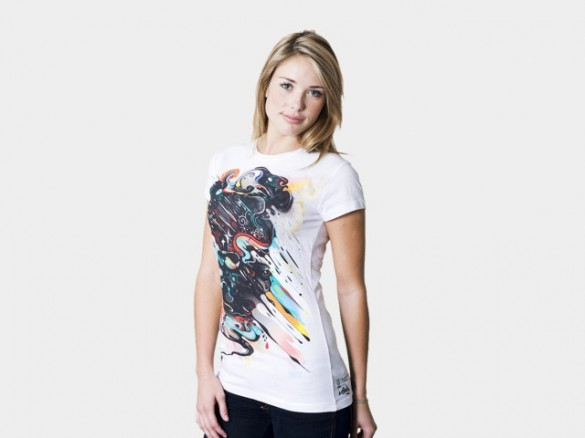 dark side of the firework custom tee design girl