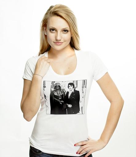 Elvis Meets Vader T-shirt Design Girl