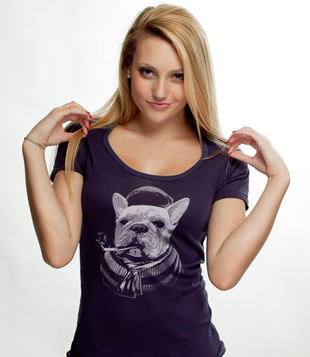 French Bulldog Custom T-shirt Design Girl