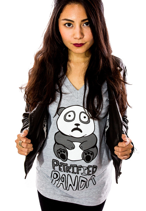 Petrified Panda (Women) Custom T-shirt Design Girl