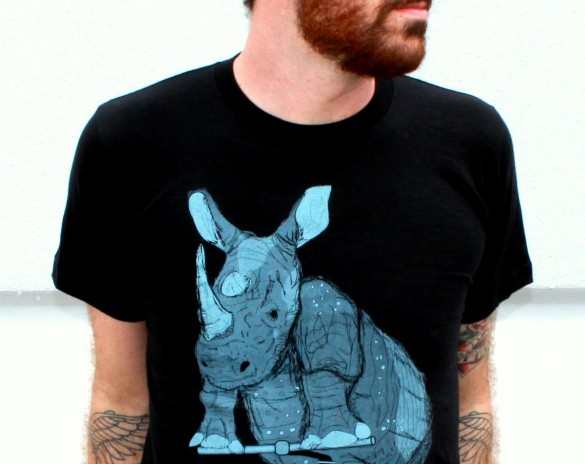 Rhinoceros on a Bike Custom T-shirt Design 2