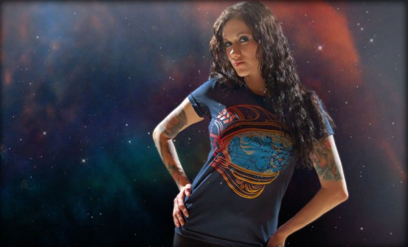 Shatter Space Custom T-shirt Design Girl
