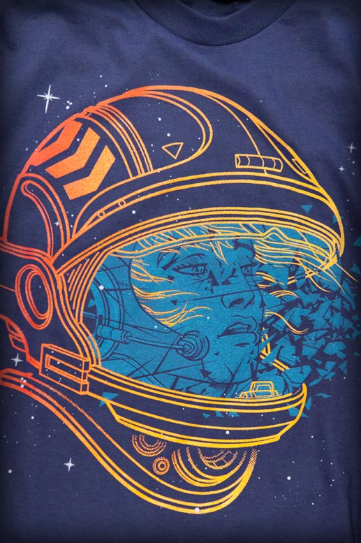 Shatter Space Custom T-shirt Design