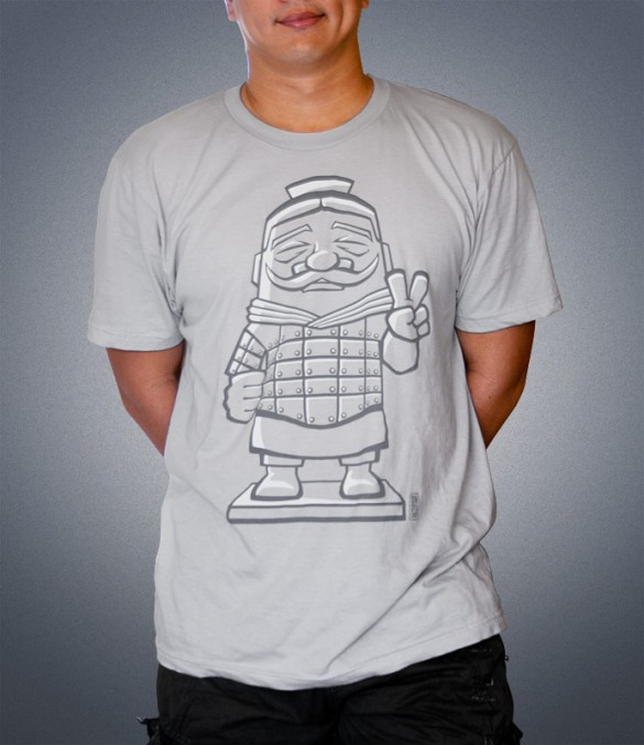 Terracotta Soldier T-Shirt Design