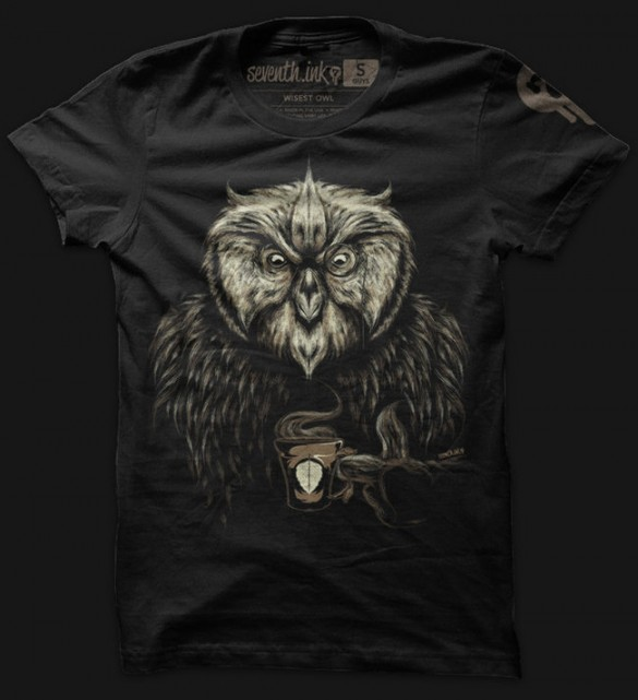 Daily tee wisest owl t shirt design fancy T shirt with owl design