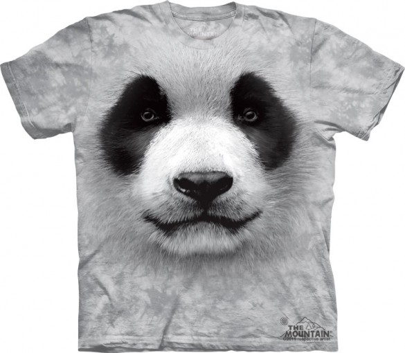 Big Face Panda t-shirt design from The Mountain