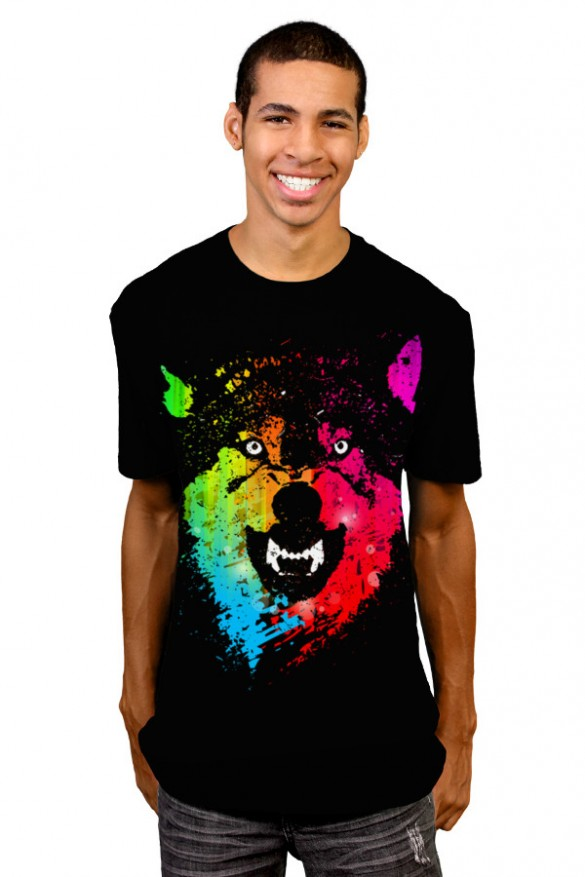 Daily Tee The Neon Wolves t-shirt design by Moncheng 2