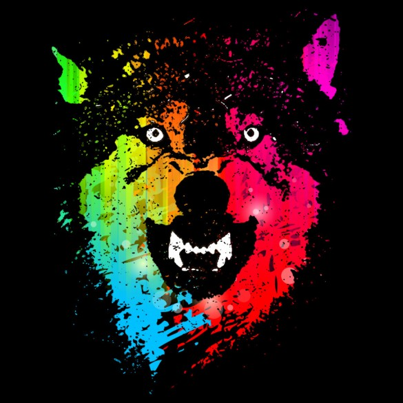 Daily y this Tee The Neon Wolves t-shirt design by Moncheng