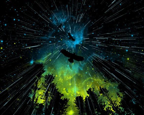 Twilight Rain T-shirt by AJ Dimarucot