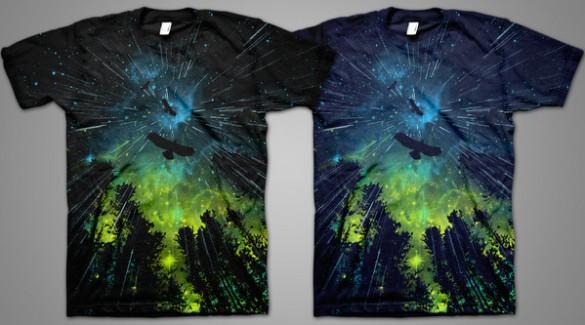 Twilight Rain T-shirts by AJ Dimarucot