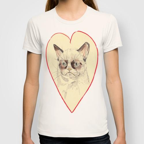Daily Tee Grumpy Cat Love T Shirt Design By