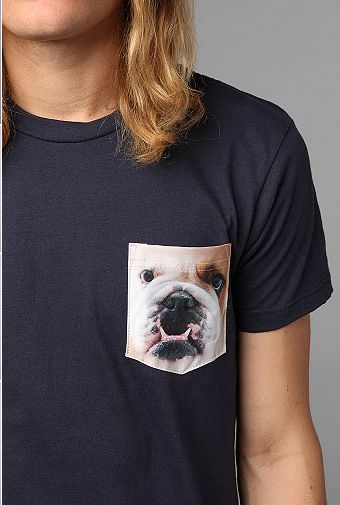 Bulldog Pocket Tee t-shirt design by urbanoutfitters close up