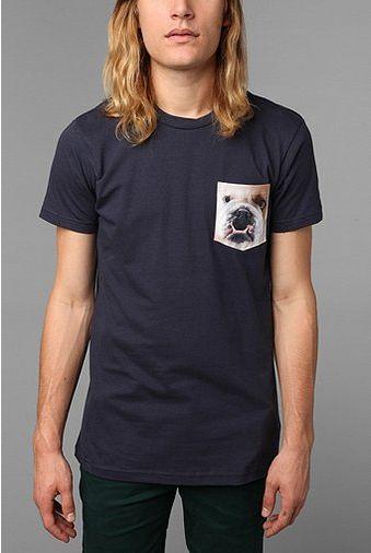 Bulldog Pocket Tee t-shirt design by urbanoutfitters