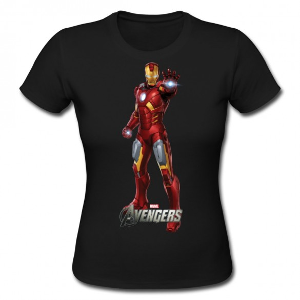 Daily Tee Iron Man t-shirt design from spreadshirt black for girl