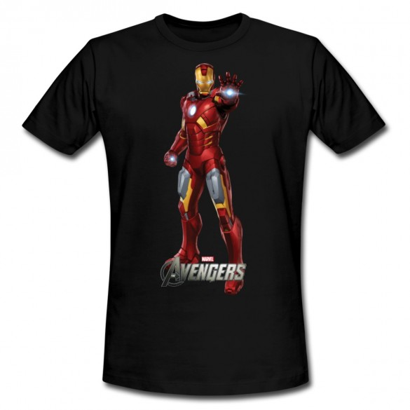 Daily Tee Iron Man t-shirt design from spreadshirt black for man