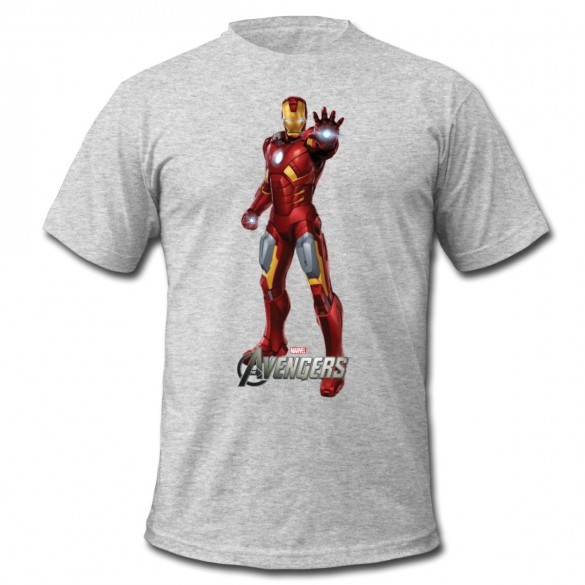Daily Tee Iron Man t-shirt design from spreadshirt white for man