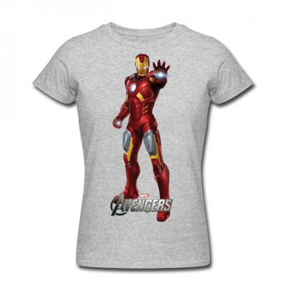 Daily Tee Iron Man t-shirt design from spreadshirt white for men